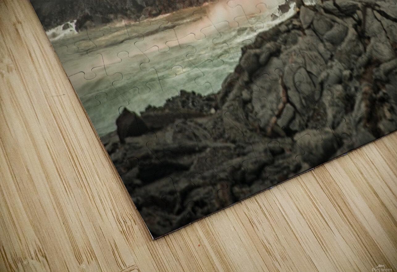 Lava Entering the Ocean HD Sublimation Metal print