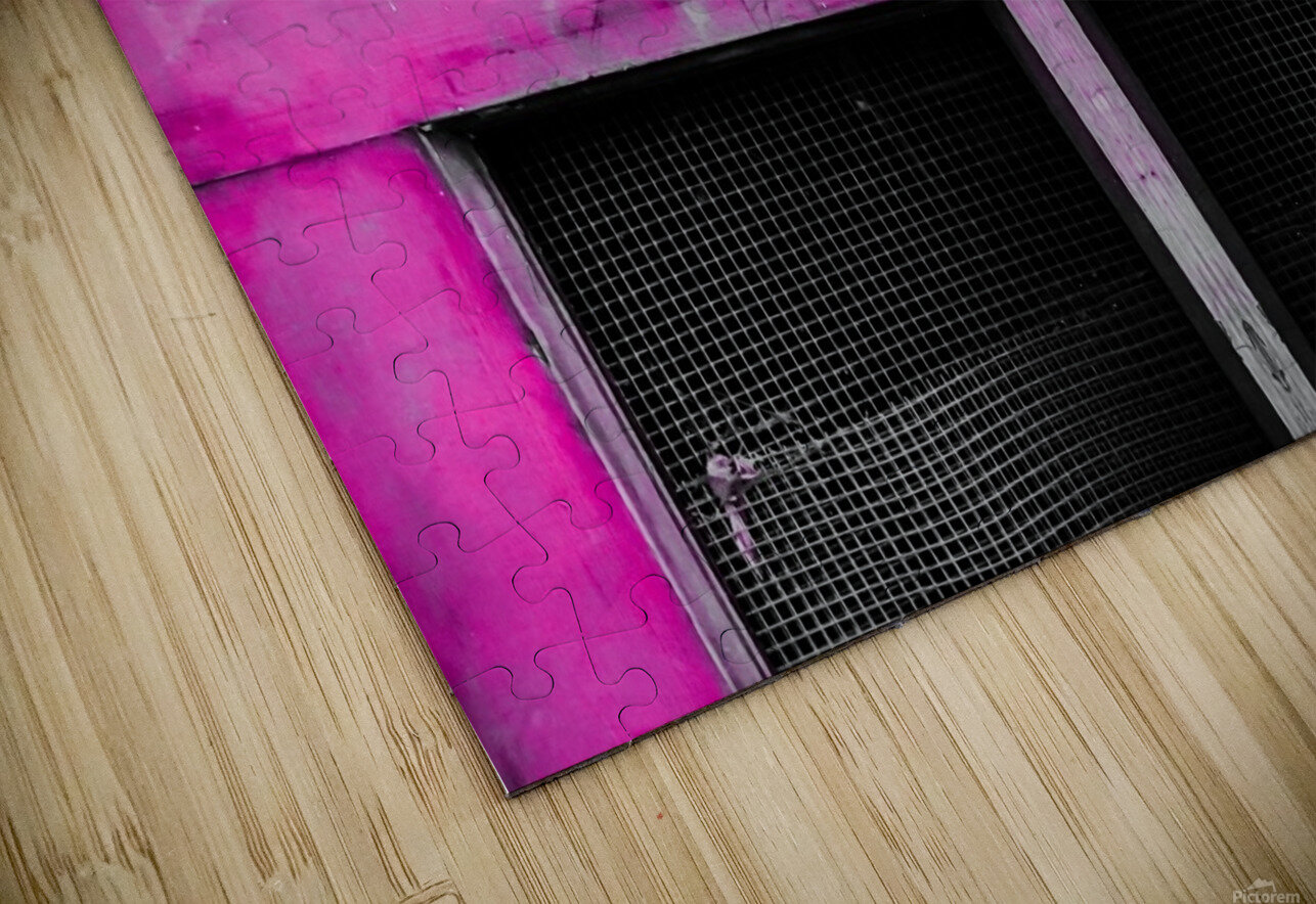 old pink wooden door abstract background HD Sublimation Metal print
