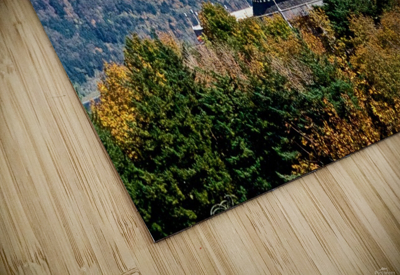 Crown Point overlooking Columbia River Gorge with fall colors HD Sublimation Metal print