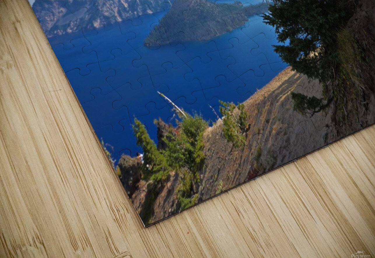 Crater Lake & Gnarled White Pine HD Sublimation Metal print