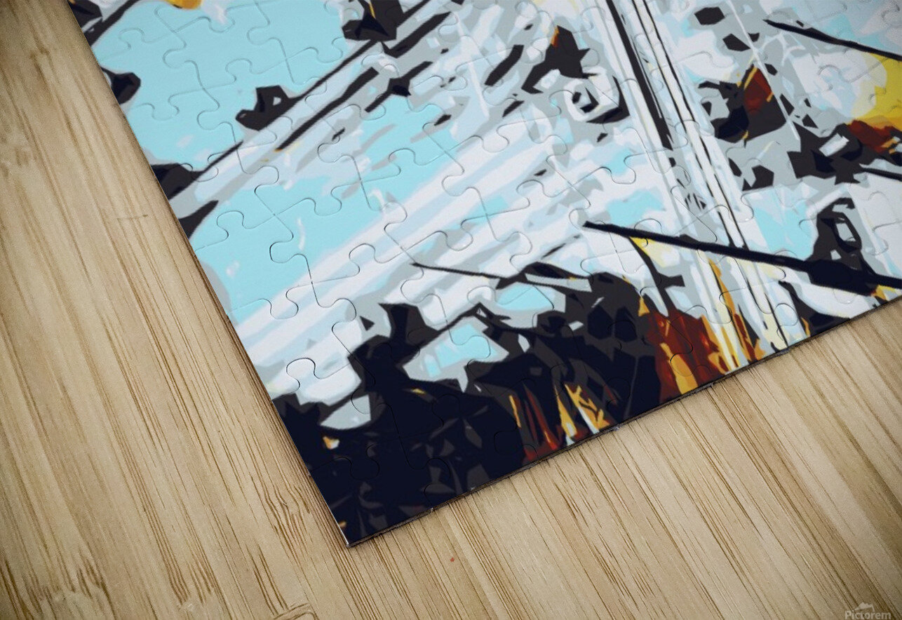 road in the city geometric abstract background HD Sublimation Metal print