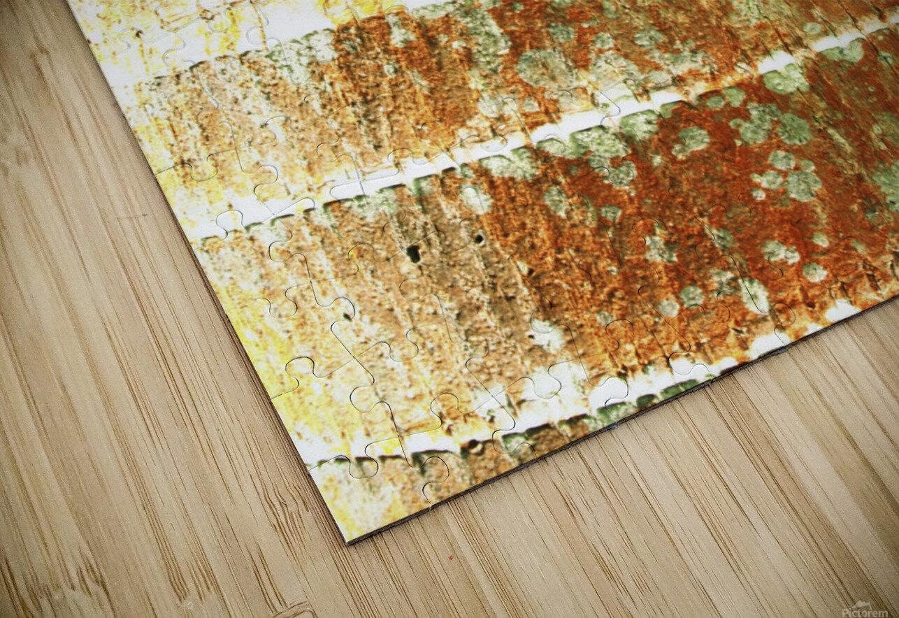 Hawaii, Oahu, Close-Up Of Coconut Palm Tree Bark Texture. HD Sublimation Metal print