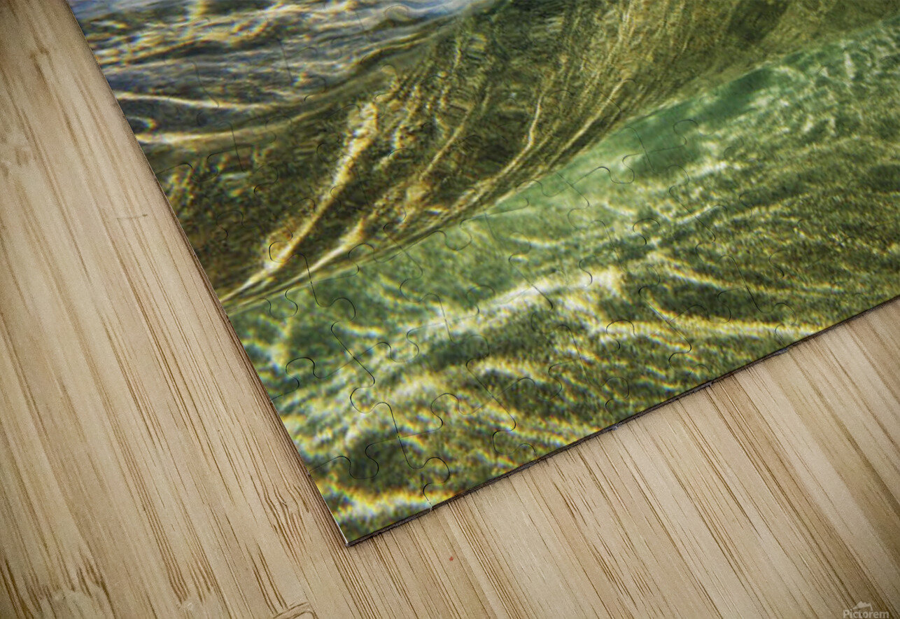 Hawaii, Oahu, Underwater View Of Wave. HD Sublimation Metal print