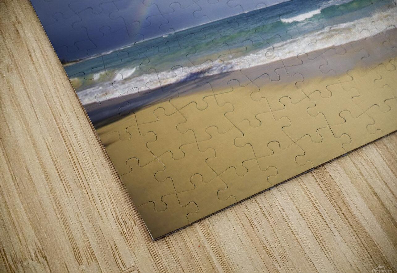 USA, Hawaii, Rainbow at Baldwin Beach; Maui HD Sublimation Metal print