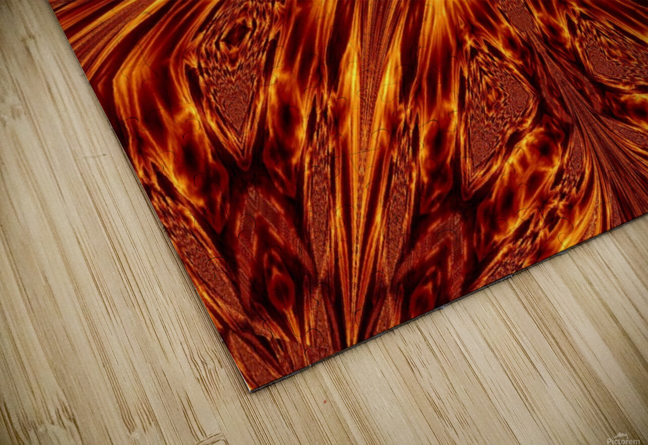 Fire Butterfly  HD Sublimation Metal print
