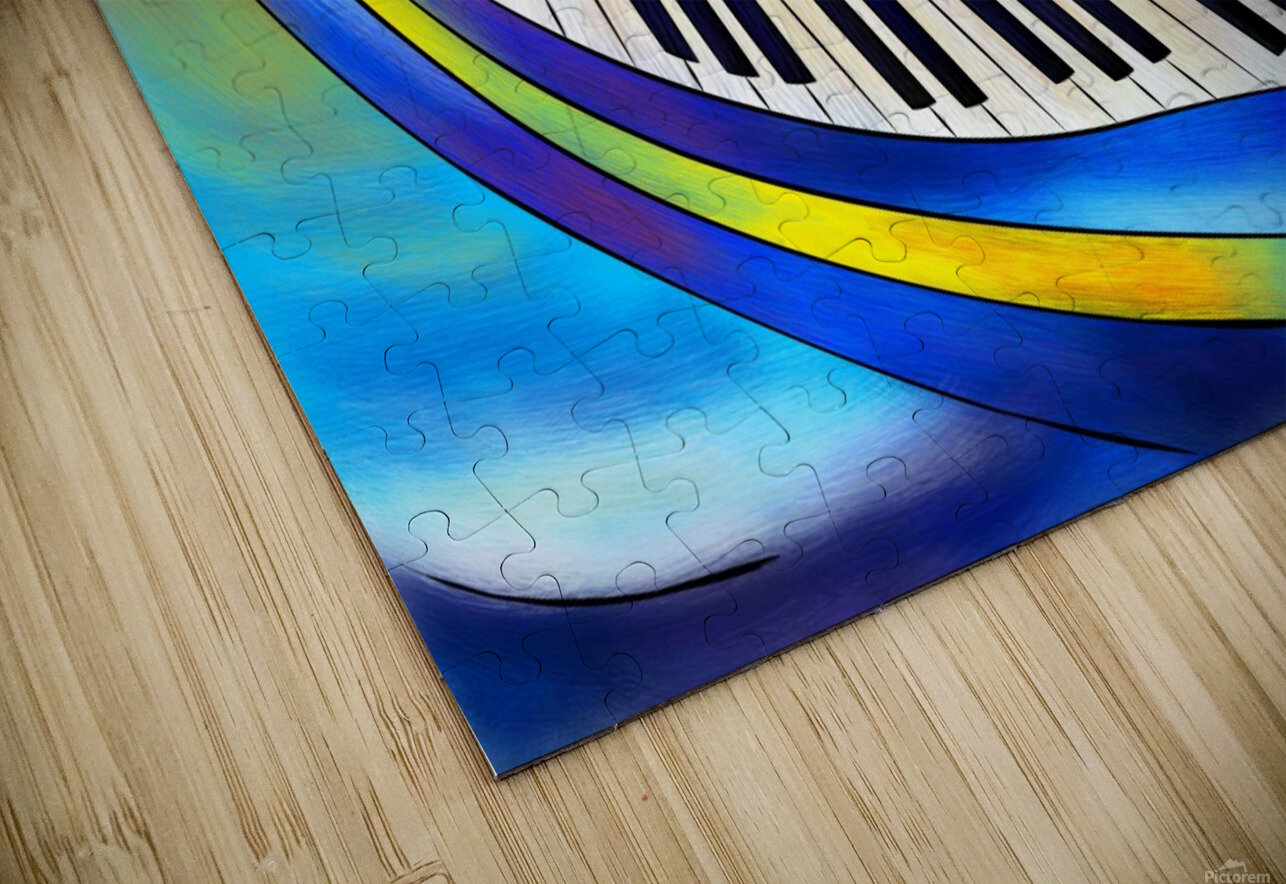 Redemessia - spiral piano HD Sublimation Metal print