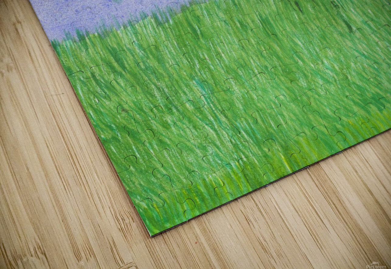 field of grass HD Sublimation Metal print