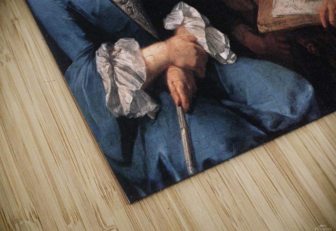 The sitting, 1754 Impression de sublimation métal HD