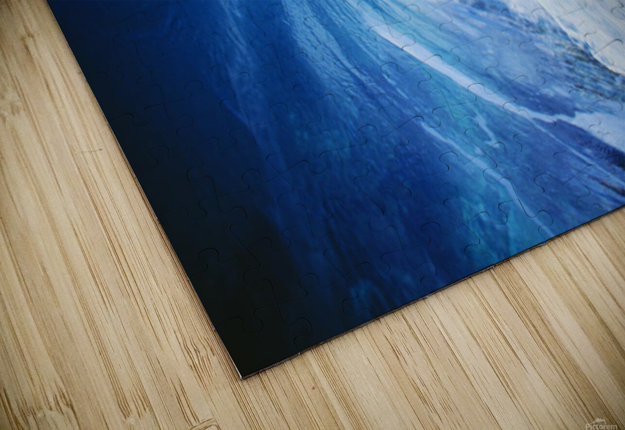 Hawaii, Oahu, Perfect Wave At Pipeline. HD Sublimation Metal print