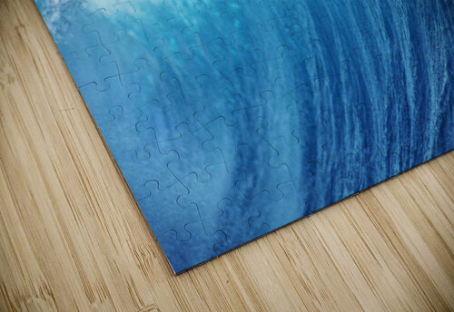 Inside Glassy, Blue Wave Curling Over, Closeup jigsaw puzzle
