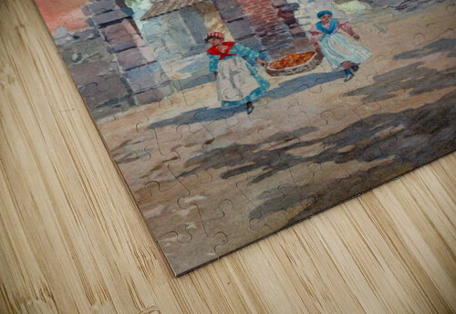 Two girls carrying fruits to their house jigsaw puzzle