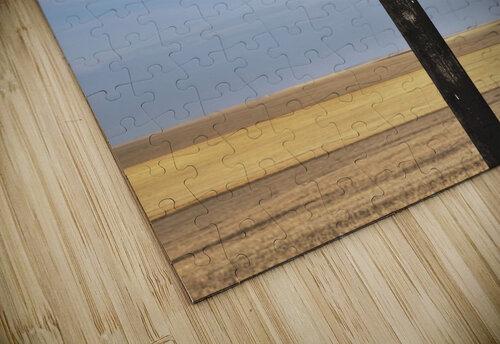 Crucifix and a farm field in the background;Saskatchewan canada jigsaw puzzle