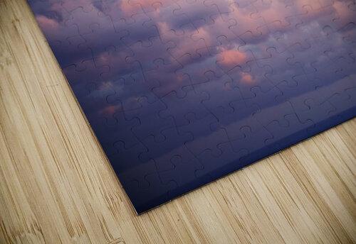 Cumulous pink clouds over horizon; Aina Haina, Oahu, Hawaii, United States of America jigsaw puzzle