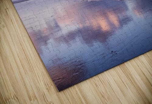 Clouds reflect on an Oregon beach at sunrise; Hammond, Oregon, United States of America jigsaw puzzle
