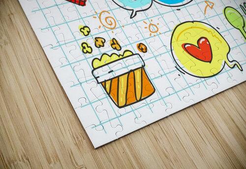 colorful doodle jigsaw puzzle