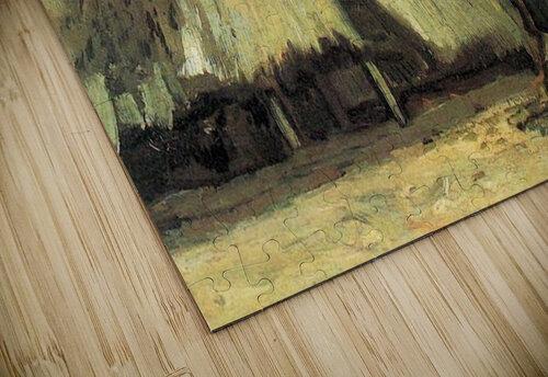 Farmhouse with farmer digging by Van Gogh jigsaw puzzle