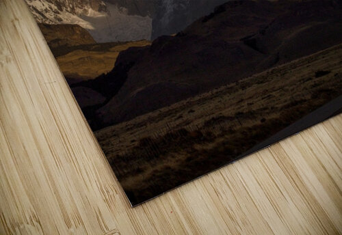 Striped sky over the Patagonia spikes jigsaw puzzle