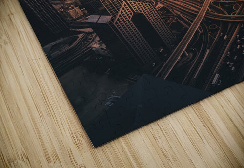 Dubai's Fiery sunset jigsaw puzzle