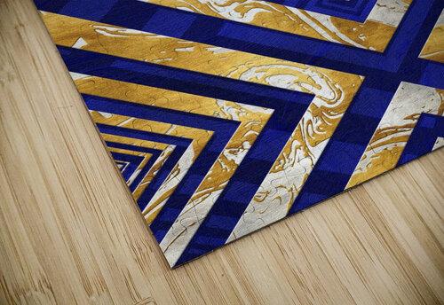 Geometric Gold Dark Blue Marble jigsaw puzzle