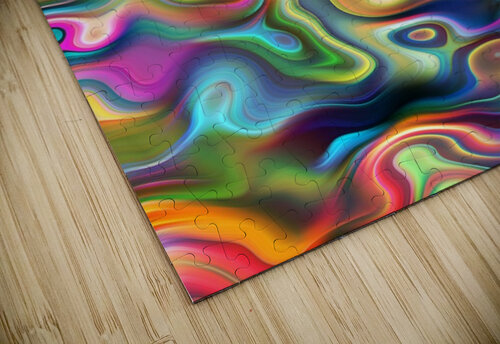 Abstract Colorful Waves jigsaw puzzle
