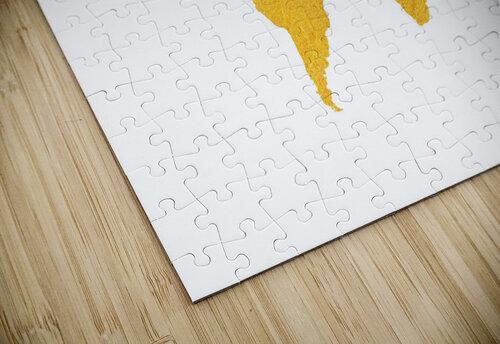Golden World Map - White Background jigsaw puzzle