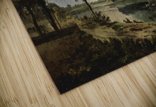 Men by the river jigsaw puzzle