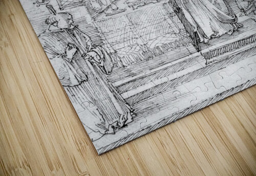Mass of Cardinal Albrecht of Brandenburg in the Abbey Church Hall jigsaw puzzle