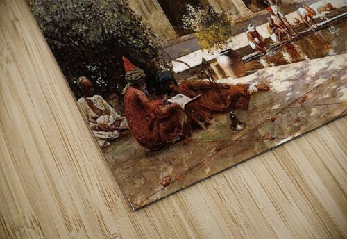 Figures in the Courtyard of a Mosque jigsaw puzzle