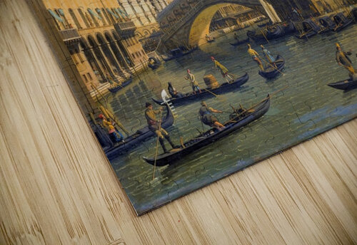 Rialto Bridge Canaletto jigsaw puzzle