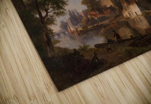 Capriccio stadsgezicht, elementen Deventer jigsaw puzzle