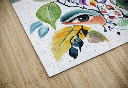Vintage Retro Feminine Vibe Pattern jigsaw puzzle