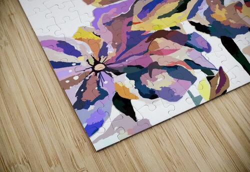 Watercolor Vintage Retro Floral Pattern  jigsaw puzzle