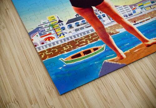 Girl on Malaga Beach jigsaw puzzle