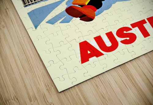 Little Skier from Austria jigsaw puzzle