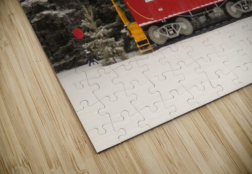 Soo Caboose in Fresh Snow jigsaw puzzle