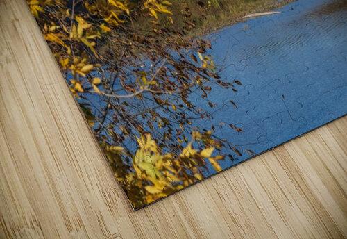 Harpersfield Ohio covered bridge in autumn jigsaw puzzle