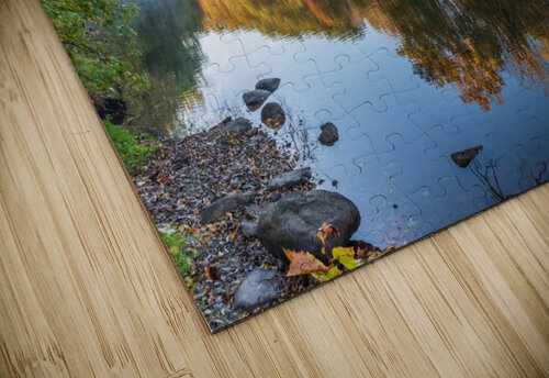 Autumn morning on the Grand River at Mechanicsville Ohio jigsaw puzzle
