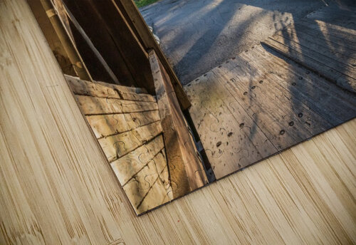 Portal of Mechanicsville covered bridge Ashtabula County Ohio jigsaw puzzle