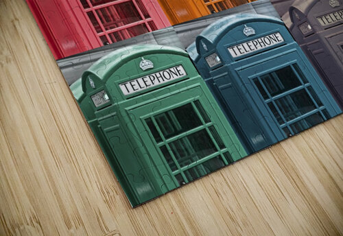 Multicoloured telephone boxes jigsaw puzzle