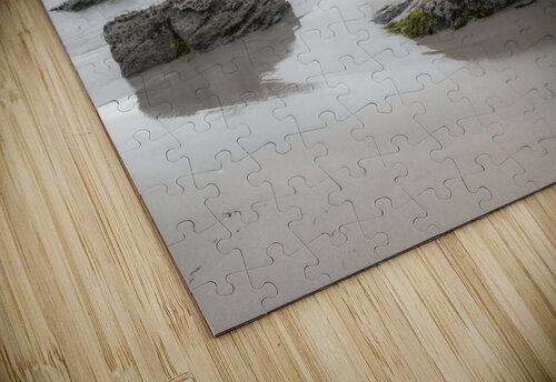 Rocks on a sandy beach jigsaw puzzle