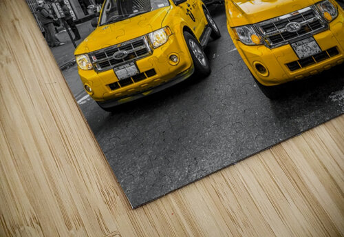 Taxi on broadway, New York jigsaw puzzle