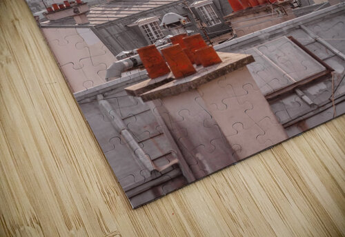 Eiffel Tower seen through the window of an apartment in Montmartre, Paris, France jigsaw puzzle