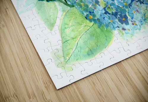 Lovely Blue Hydrangia  jigsaw puzzle