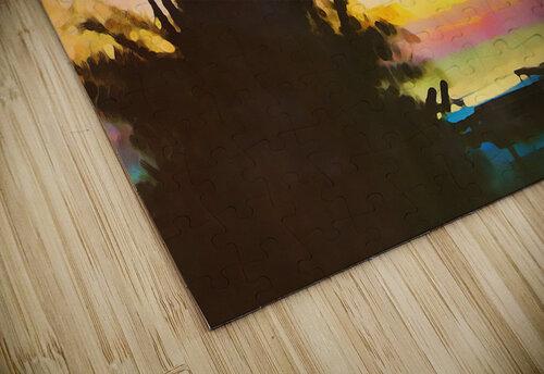 gulf of mexico sunset art jigsaw puzzle