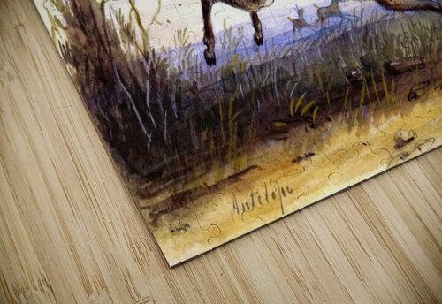 Antelope running jigsaw puzzle