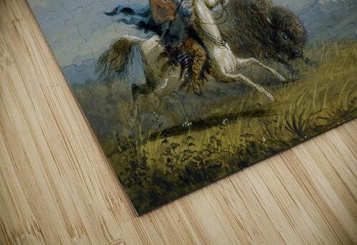 Pawnee Running Buffalo jigsaw puzzle