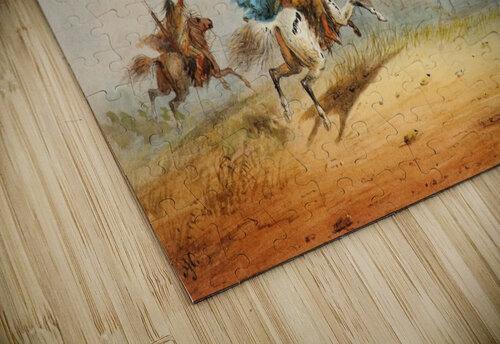 Lassoing Horses jigsaw puzzle