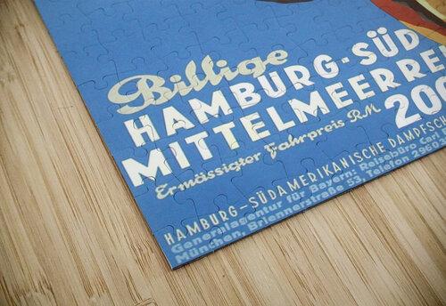 Hamburg-Sud Billige Mittelmeerreisen Original Poster jigsaw puzzle