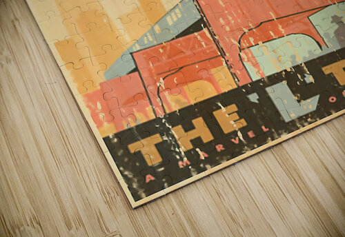 Chicago L Train Vintage Art Poster jigsaw puzzle