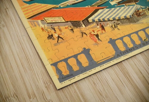 Greece original vintage travel poster jigsaw puzzle